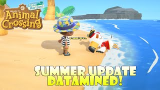 More Summer Update Details and Datamine! | Animal Crossing New Horizons