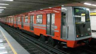 Trenes del Metro de la ciudad de México