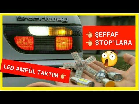 ŞEFFAF STOPLARA LED AMPUL TAKTIM = LED STOP ! ! !