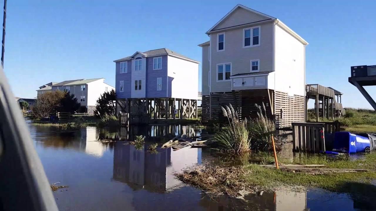 A Look At Oak Island Nc After Hurricane Matthew Youtube