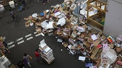 Piles of waste accumulate on Hong Kong's streets