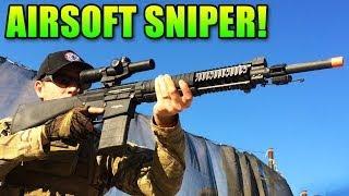 airsoft sniper g sr 25 dmr review sniping all teh newbs gr 25