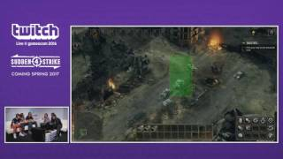 Sudden Strike 4  | Twitch Live @gamescom2016 (US)