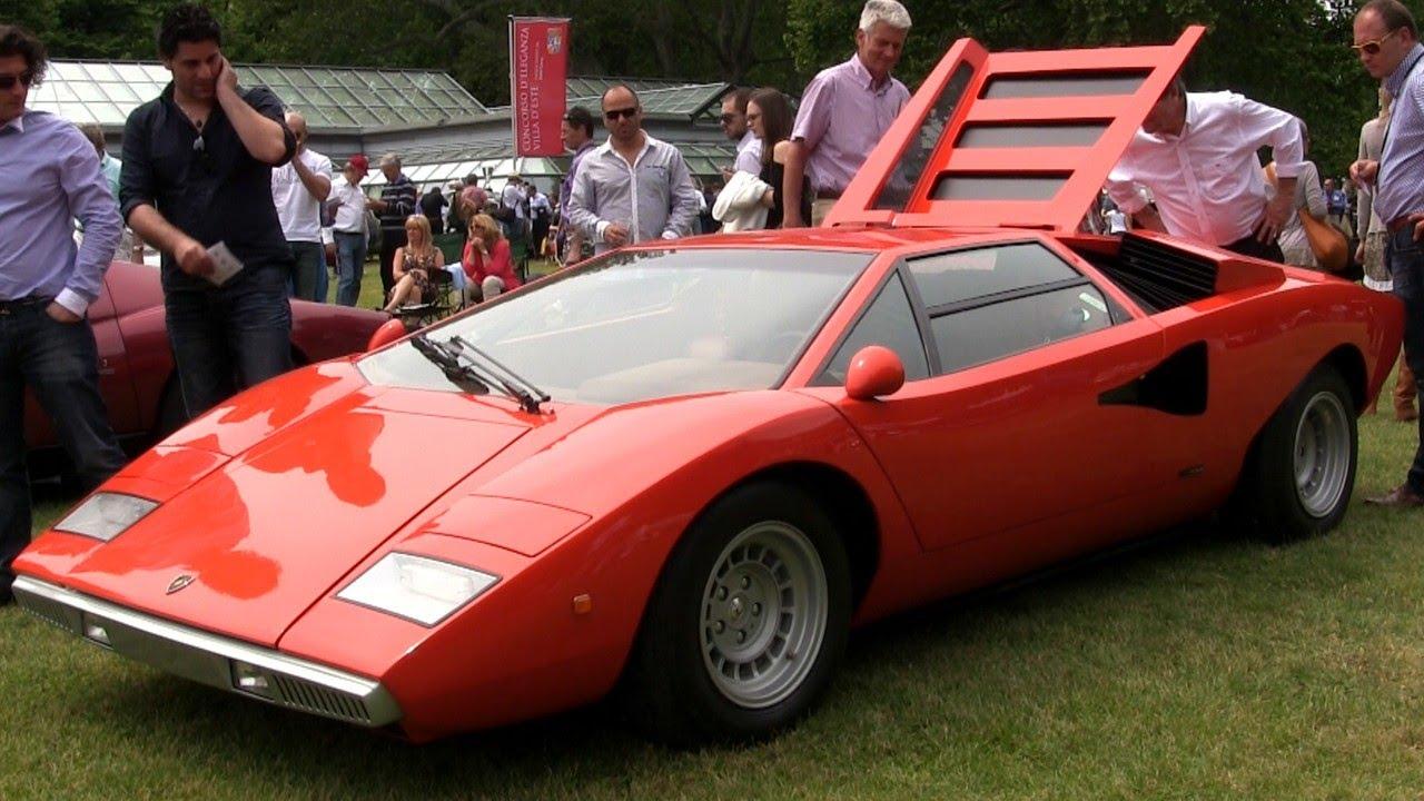 Lamborghini Countach Lp400 Exhaust Sound Youtube