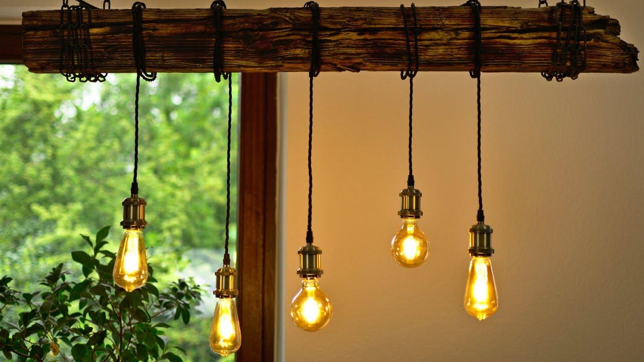 Diy Esszimmer Lampe Bauen Einfach Und Gunstig Balken