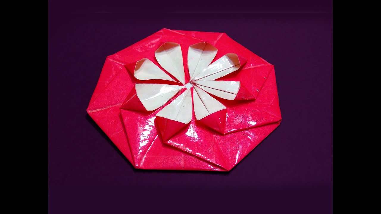 Easy origami coaster! Paper coaster. Origami envelope - YouTube