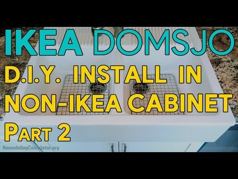 Ikea Domsjo Sink Installation In Non Ikea Kitchen Cabinet Part 2