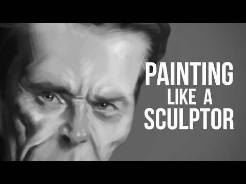 Digitally Painting like a Sculptor - Caricature Critique