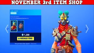 Fortnite Item Shop (November 3rd) | *NEW* RUCKUS & MAYHEM SKINS!