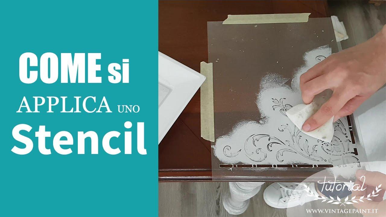 Come Fare Uno Stencil Con La Vintage Chalk Paint Youtube