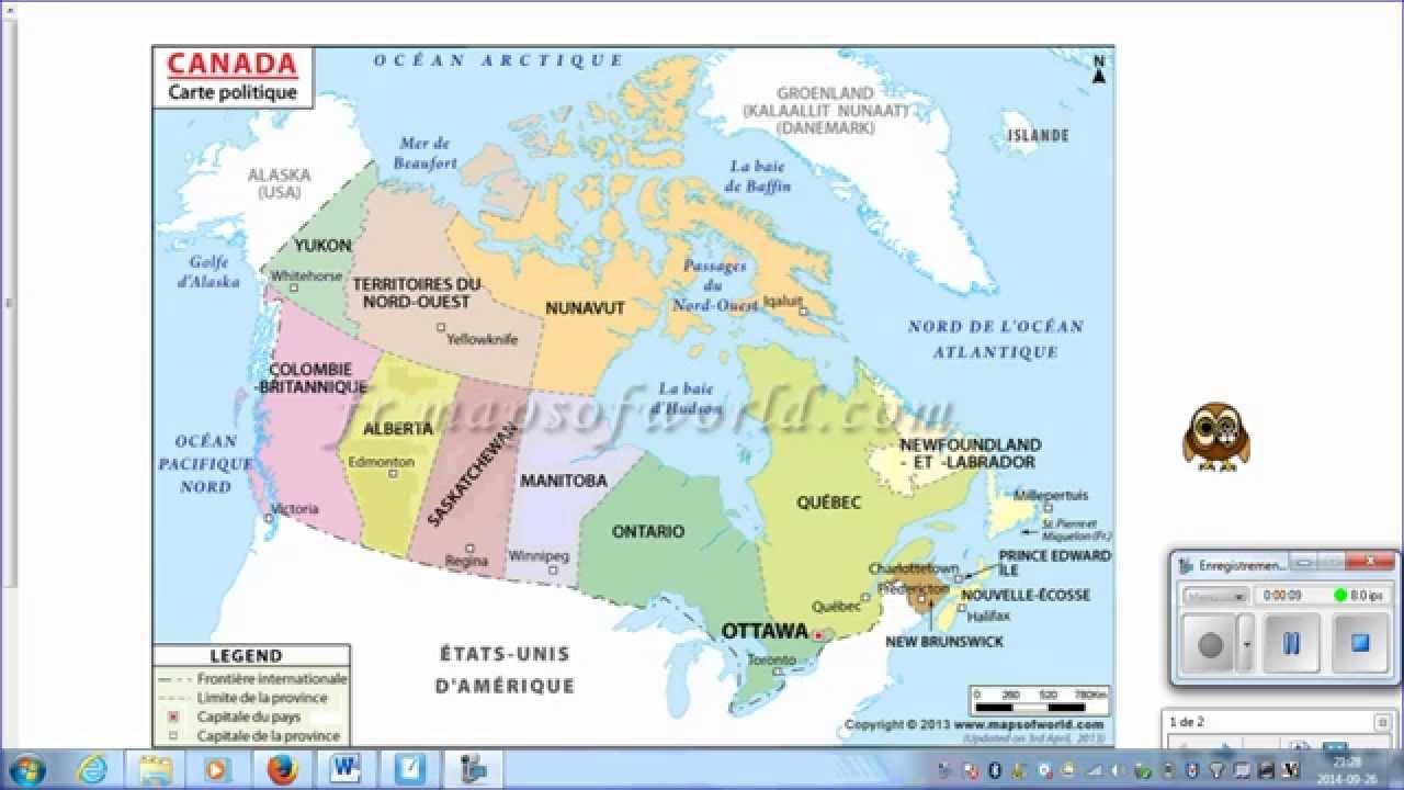 cartes canada carte du monde youtube