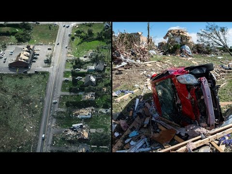 Tornado devastation in Ottawa area seen from the air and ground