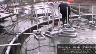 installion of Computerized Fountain  China Changsha Himalaya Music Fountain