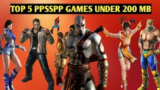 Top 5 Best ppsspp Game Under 200 Mb. 2018