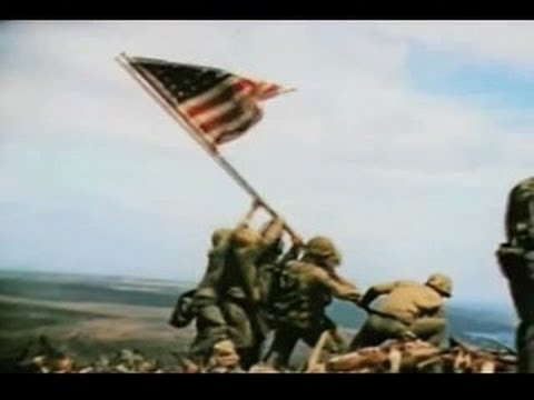 Iwo Jima Flag Raising Color Footage Strikingly Beautiful