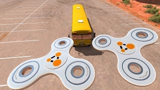 Giant Fidget Spinner Destroying Vehicles #2   BeamNG Drive