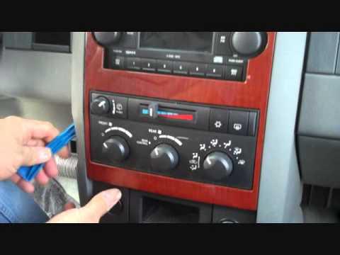 Dodge Durango Stereo Removal 20042007  YouTube
