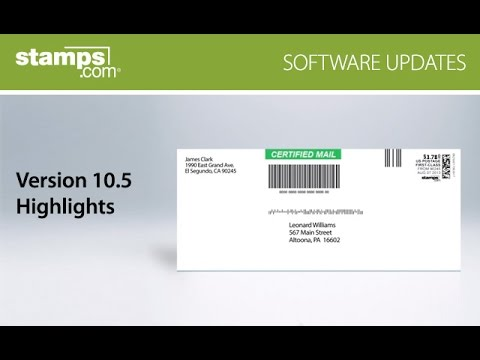 Stamps.com Version 10.5, New USPS Rate Shopping Engine, Certified Mail Envelopes