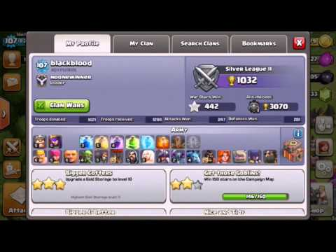Clash of clans  the master on defense 281 won in 1 season