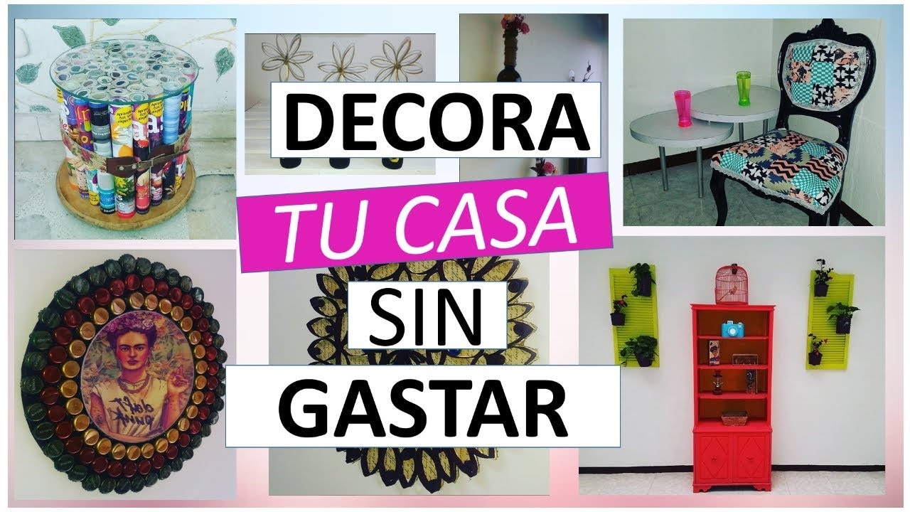 11 manualidades f ciles para decorar sin gastar mucho con for Ideas para decorar la casa con reciclaje