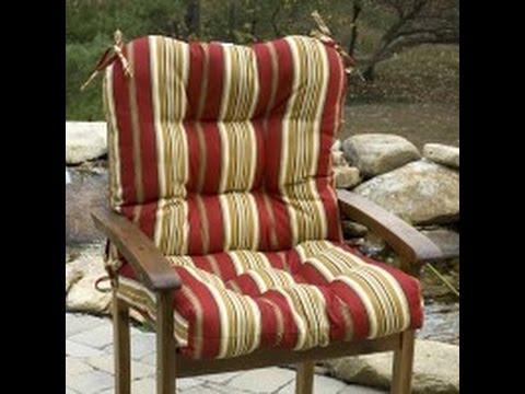 high back wicker chair cushions best for reading nook patio youtube