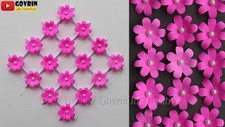 Paper Flower Wall Hanging Ide Kreatif Membuat Hiasan Dinding Dari Kertas Hiasan Kelas Youtube