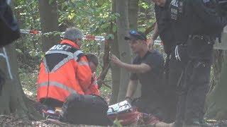 Exklusiv: Journalist stürzt von Hängebrücke - tot bei Räumung Hambacher Forst am 19.09.18 + O-Ton