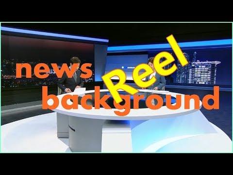virtual news studio background with broadcast lighting set design