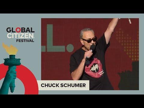 Senator Chuck Schumer Calls on Global Citizens to #StopTheCuts | Global Citizen Festival NYC 2017