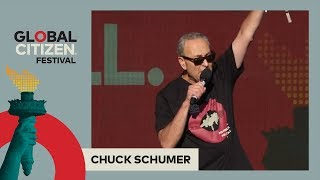 Senator Chuck Schumer Calls on Global Citizens to #StopTheCuts | Global Citizen Festival NYC 2017