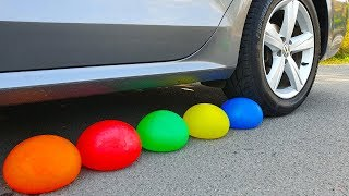 Crushing Crunchy & Soft Things by Car! EXPERIMENT: WATER BALLOONS vs CAR