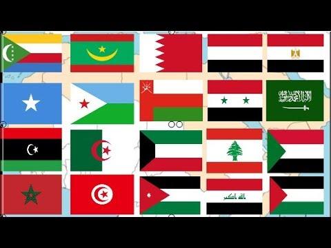 اعلام الدول العربية وعواصمها وعدد سكانها Youtube