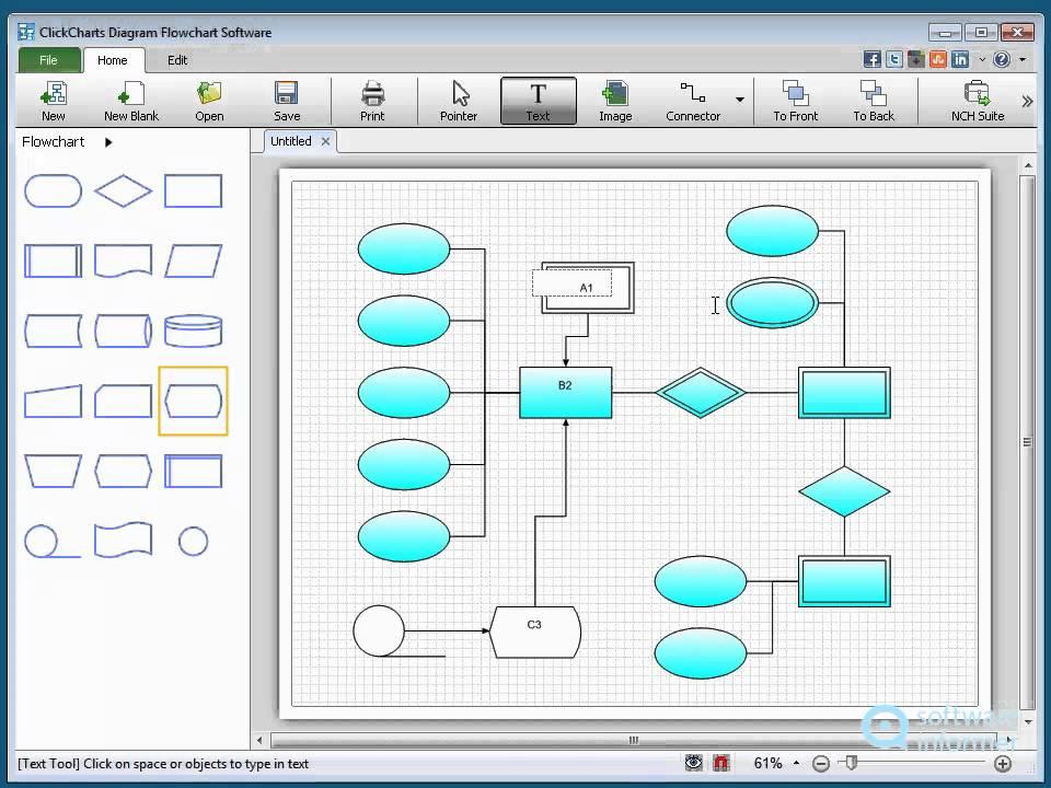 A Quick Look At Clickcharts Diagram Flowchart Software Youtube