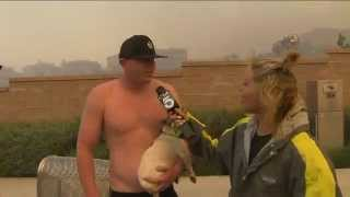Shirtless Man Asks Out KTLA Anchor During Wildfire 4/30/2014