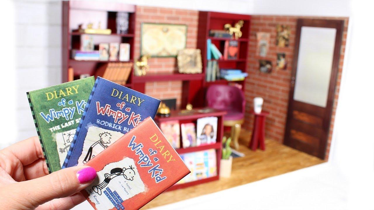 Diy American Girl Bookstore Dollhouse Room Youtube