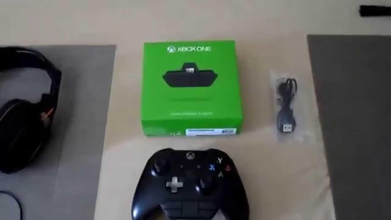 xbox one adaptateur micro casque deballage
