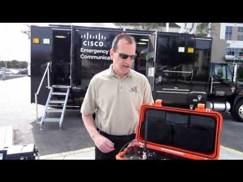 Dave Boyer, ICS, demonstrates the ICS Warrior Tactical Communications Solution at IWCE 2012