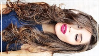 How to Curl Your Hair w/ a Flat Iron   Big Sexy Waves & Volume   Jessica Harlow Hair Tutorial