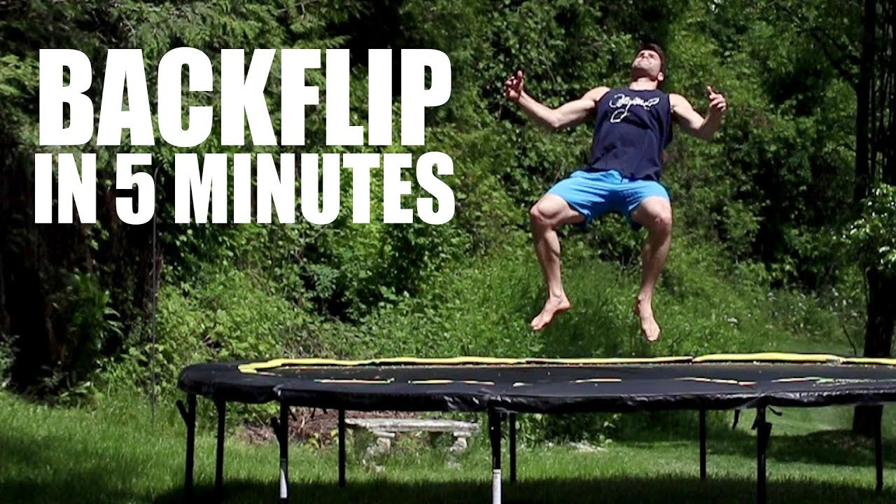 How to double backflip on a trampoline | push | action sports.