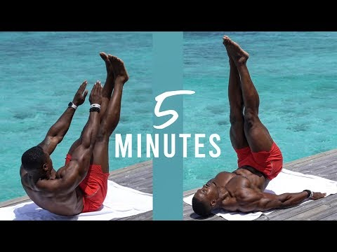 5 MIN ABS WORKOUT   CAN BE DONE AT HOME EVERYDAY
