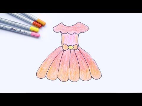 Draw And Coloring Princess Dress - Tập Vẽ Và Tô Màu Váy Công Chúa
