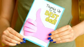 Father's day thumbs up card idea - paper crafts for kids