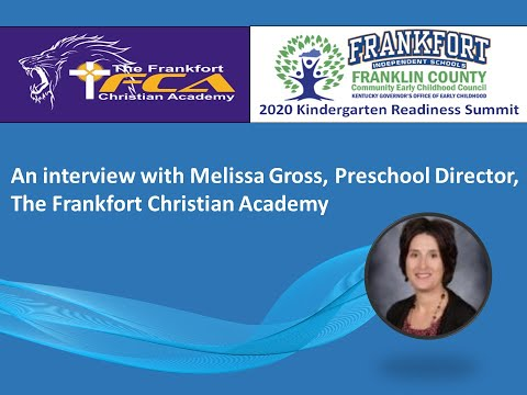 2020 Kindergarten Readiness Spotlight: The Frankfort Christian Academy Preschool