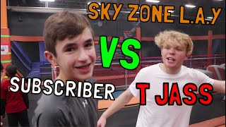 Game Of Trampoline L.A.Y. vs SUBSCRIBERS!