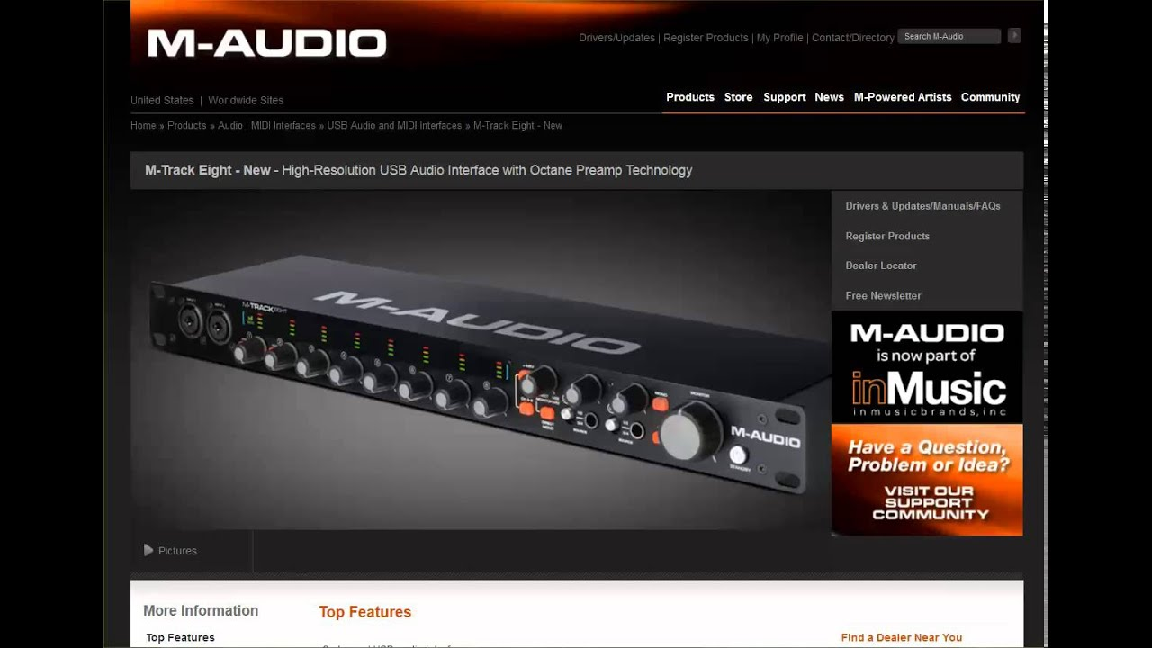 m audio m track eight 8 channel usb audio interface review youtube. Black Bedroom Furniture Sets. Home Design Ideas