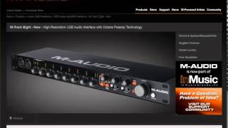 m audio m track eight 8 channel usb audio interface review