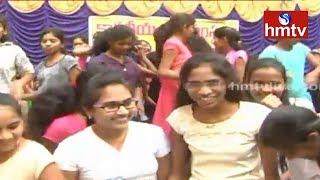 New Year Celebrations At Kakatiya College   Nizamabad   Telugu News   hmtv News
