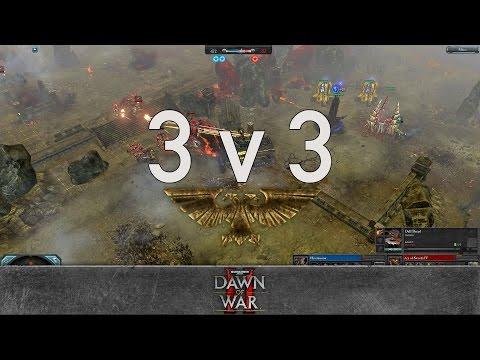 Dawn of War 2 - 3v3 | Hiveminion + Morgan + BestN00b [vs] Ace of Swords + Dark Riku + Nurland