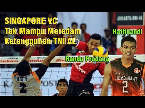 SINGAPORE VC Tak Mampu Meredam Ketangguhan Tim TNI AL | Final Livoli Divisi I 2018