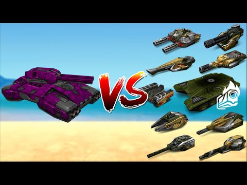 Tanki Online - All Turrets With Booster Vs Juggernaut